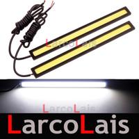 dekoratif şeritler toptan satış-2x100 COB LEDs Evrensel Ultra-ince Digid LED Şerit Araba Gündüz Çalışan Işık DRL Uyarı Sis Dekoratif Lamba