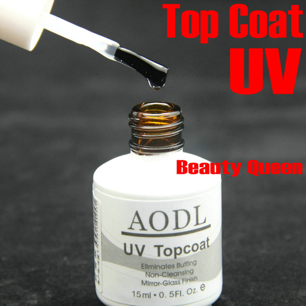 top popular High Gloss * Non cleanser No sticky Fast dry * Proffession Salon Nail Art Soak Off Top Coat for UV LED Gel Polish Soak-Off NEW * AODL 2021