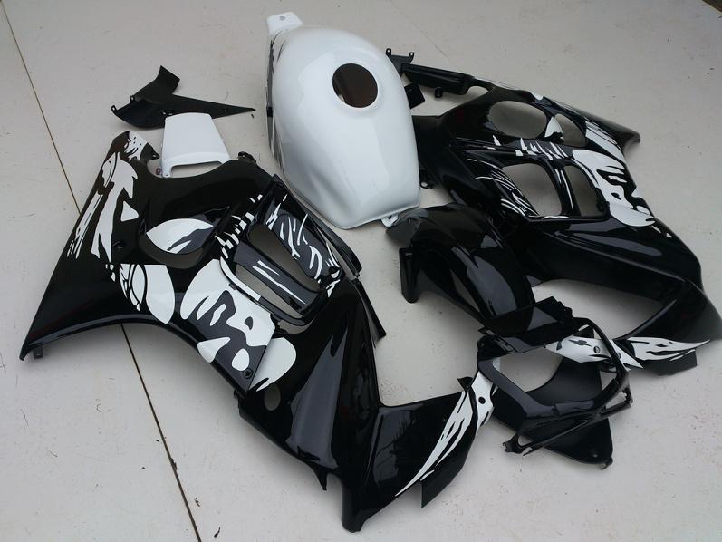 Branco Preto Carenagem Corpo kit para HONDA CBR600F3 97 98 CBR600 F3 CBR 600 F3 1997 1999 Motocicleta Carenagens set + presentes HA36
