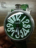 Wholesale Gaga Watch Diamond - Factory Seller In Box AAA Quality Gaga Milano Chrono Green Dial Mens Automatic Mechanical Watch Color Diamond Men's Movement Wrist Watches