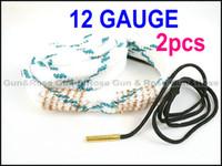 Wholesale Bore Snake 12ga - Free shipping Gun&Rose 2pcs 12 Gauge Bore snake 12ga Gun cleaning shotgun for rifles pistols