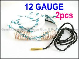 Wholesale Shotguns Cleaner - Free shipping Gun&Rose 2pcs 12 Gauge Bore snake 12ga Gun cleaning shotgun for rifles pistols