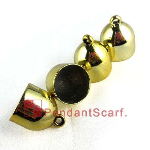 / heißer verkaufender DIY Jewellery Schal-hängende Zusätze Goldener überzogener Plastik CCB sich verjüngende Korn-Kappen Charme, freies Verschiffen, AC0029B