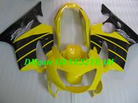 sarı renkli f4 toptan satış-HONDA CBR600F4 99 00 için enjeksiyon Fairing vücut kiti CBR 600 F4 CBR600 F4 CBR600 1999 2000 sarı siyah kaportalar kaporta + hediyeler Hm48