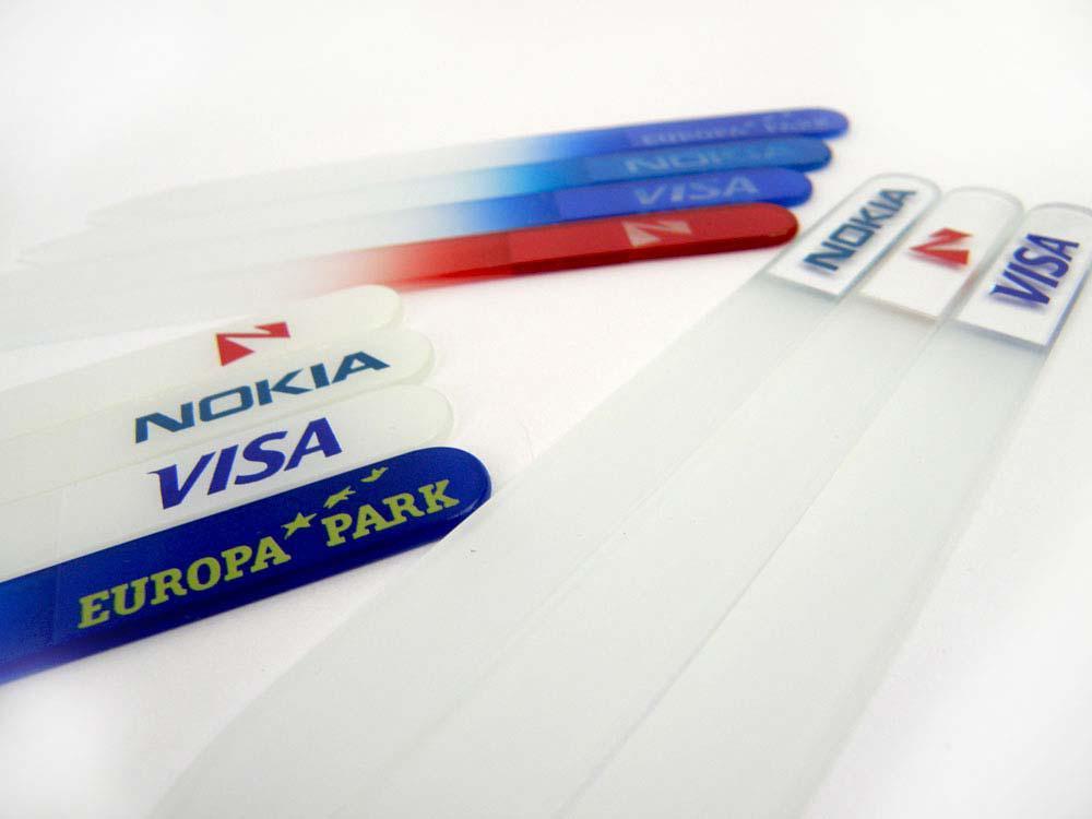 Archivos de uñas de vidrio promocionales con su marca o logotipo 500x / lote envío gratis # NF014