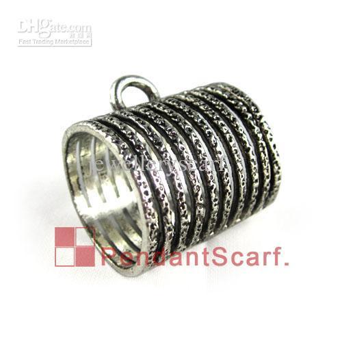 / Neue Entwurfs-DIY Schmucksache-Halsketten-Schal-hängende geistige Legierungs-Ring-Entwurfs-Charme-Dia-Kautionen, die Rohr, freies Verschiffen, AC0044A halten
