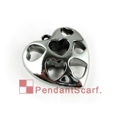 / Spitzenart und weise DIY Halsketten-Schmucksache-Schal-Zusätze versilbern Plastik CCB aushöhlen Herz-Anhänger-Charme, freies Verschiffen, AC0042