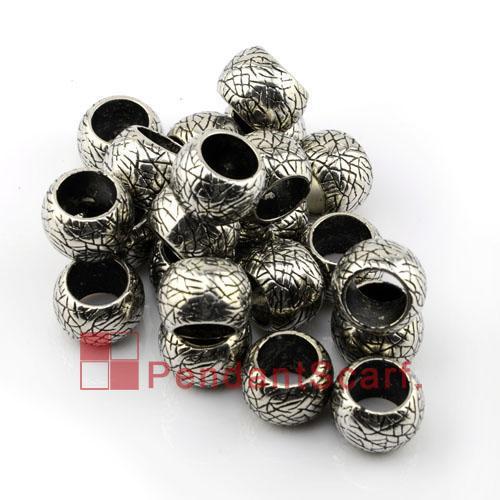 50 UNIDS / LOTE DIY Popular Collar Bufanda de la Joyería Colgante Accesorios Pistola Negro Plateado Plástico CCB Oval Beads Charm, Envío Gratis, AC0039B
