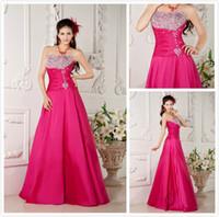Wholesale Taffeta Evening Dress Corset - A-line strapless beaded plus size corset back evening prom dresses gowns taffeta