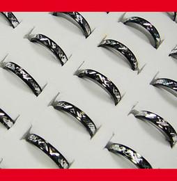Wholesale Women Pretty - Wholesale jewelry ring lots pretty fashion women men black white aluminum alloy Rings New LR090 free shipping