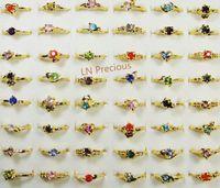 anel banhado a ouro das meninas venda por atacado-Moda Mix Lotes Clássico Moda Rhinestone Banhado A Ouro Anéis Para As Mulheres e Meninas Barato Whole Jewelry lotes LR119 Frete Grátis