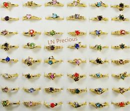 Moda Mix Lots Classic Rhinestone de la manera plateó los anillos plateados para las mujeres y las muchachas Cheap Whole lots de la joyería LR119 envío gratis