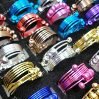 Wholesale Iron Jewelry For Women - 35Pcs Whole Colorful iron Alloy Rings For Women Spring Jewelry Bulk Lots LR188