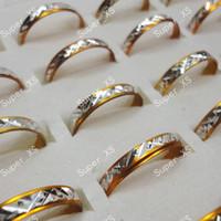 кольцо из алюминиевого сплава оптовых-Оптовая много ювелирных изделий кольцо довольно красивые кольца горячие продажа женщины мужчины желтый алюминиевый сплав кольца новый LR091 бесплатная доставка