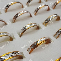 Wholesale Aluminum Ring Size - Wholesale lots jewelry ring pretty nice rings hot sale women men yellow aluminum alloy Rings New LR091 free shipping