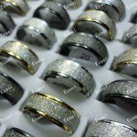jewelry spinning großhandel-Nie verblassen Peeling Spin Matt Edelstahl Trauringe für Frauen oder Männer Großhandel Schmuck Ring viele LR308