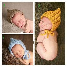 Wholesale Cheap Toddler Hats - 10%off!Wholesale and free shipping trendy baby crochet warm hat , toddler shoes 0-12 Mos newborn hat photo prop,baby wear,cheap new!5pcs