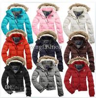 Wholesale Down Women Ae - Wholesale - 2013 New Women's AE White Down Coat Jacket Winter parka Fur Hooded Down Hoodies Outerwear