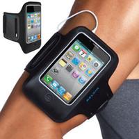 ingrosso iphone 5 casi-Custodia per braccio sportivo per Iphone 5 GYM Armband Custodia per dispositivo colorato con cinturino per cintura Soft Jogging per Iphone5 5G 5th