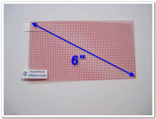 liberan la película protectora universal del protector de la pantalla del ENVÍO 6 pulgadas con el tamaño de la rejilla 129x73m m para la cámara del teléfono móvil GPS MP4 MP3