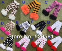 Wholesale Chiffon Ruffle Leggings - Nice Leopard Lace Baby warmers Infant Socks Children Wear Kids Chiffon Ruffle Leggings Leg Warmers Christmas Gifts