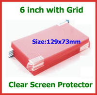 Wholesale Grid Guard - 100pcs Universal 6 inch CLEAR Screen Protector Guard 3-Layer Composite with Grid for Mobile Phone MP3 MP4 Camera Protective Film