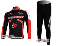Wholesale Long Sleeve Cycling Wear Clothes - Winter clothes! 2011-2 MERIDA Winter long sleeve cycling jerseys+pants bike bicycle thermal fleeced wear set+Plush fabric!