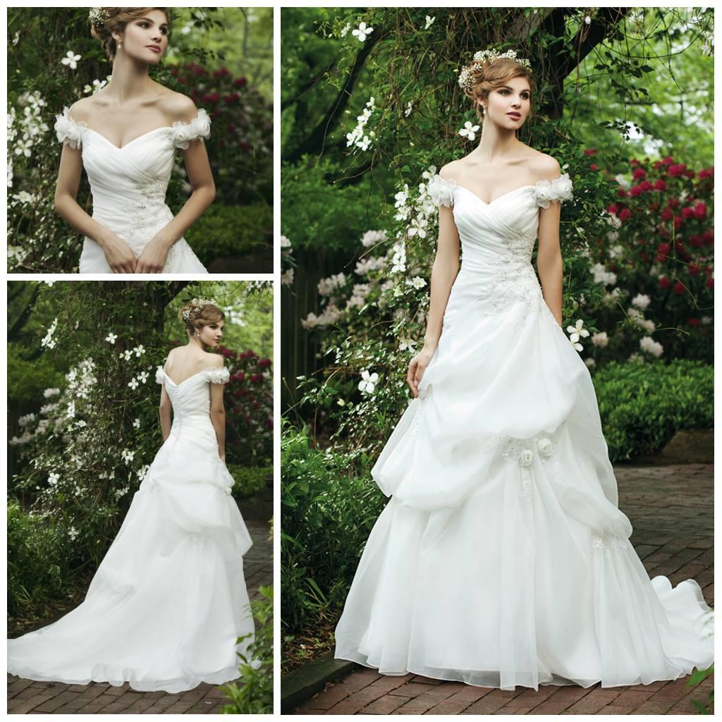 2014 fairy tale style cap sleeve pick up with handmade for Fairy inspired wedding dresses