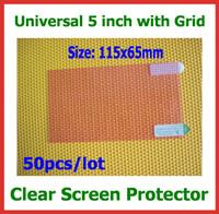 cep telefonu ekran boyutları toptan satış-50 adet Evrensel LCD Ekran Koruyucu 5 inç Boyutu Cep Telefonu GPS MP4 Kamera için 115x65mm PDA Koruyucu Güvenlik Filmi