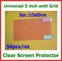 Wholesale Screen Protector Mp4 - 50pcs Universal LCD Screen Protector 5 inch Size 115x65mm for Mobile Phone GPS MP4 Camera PDA Protective Guard Film