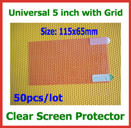 Wholesale Gps Lcd Screen - 50pcs Universal LCD Screen Protector 5 inch Size 115x65mm for Mobile Phone GPS MP4 Camera PDA Protective Guard Film