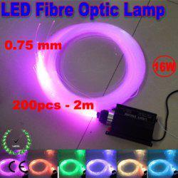 Çok Renkli RGB LED Fiber Optik Işıklar 16 W 0.75mm 200 adet 2 m fiber ışıklar Motor DIY Tavan Kiti Işık 110 V 220 V RF Uzaktan Kumanda ile