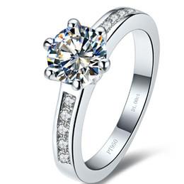 $enCountryForm.capitalKeyWord NZ - 1 ct wedding band sterling silver rings white gold simulate diamond rings for women mount ring sterling silver 925 rings