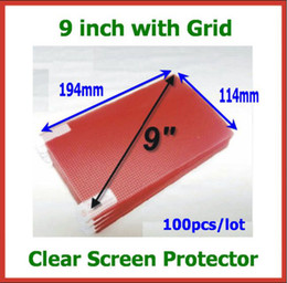 Wholesale Grid 16 - 100pcs Universal Clear   Matte Screen Protector 9 inch with Grid Size 194x114mm for Tablet PC Mobile Phone GPS MP3 MP4 Protective Film