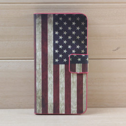 Wholesale Iphone Uk Flag - 1pc US UK Flag Zabra Flower Star Wallet 2 Credit Card Slot Stand Holder Flip PU Leather Plastic Case Cover For iPhone 4 4S 4G iPhone 5 5G