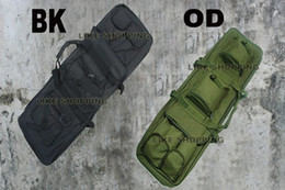 "Wholesale Dual Gun Carrying - 48"" SWAT Dual Tactical Rifle Carrying Case Gun Bag for BK or OD COLOR CHOOSE"