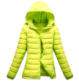 Wholesale Winter Yellow Hoody Women - 2014 special offer womens down coats in winter brand jackets fashion feather hoody jackets down jackets down-jackets for lady warm coats