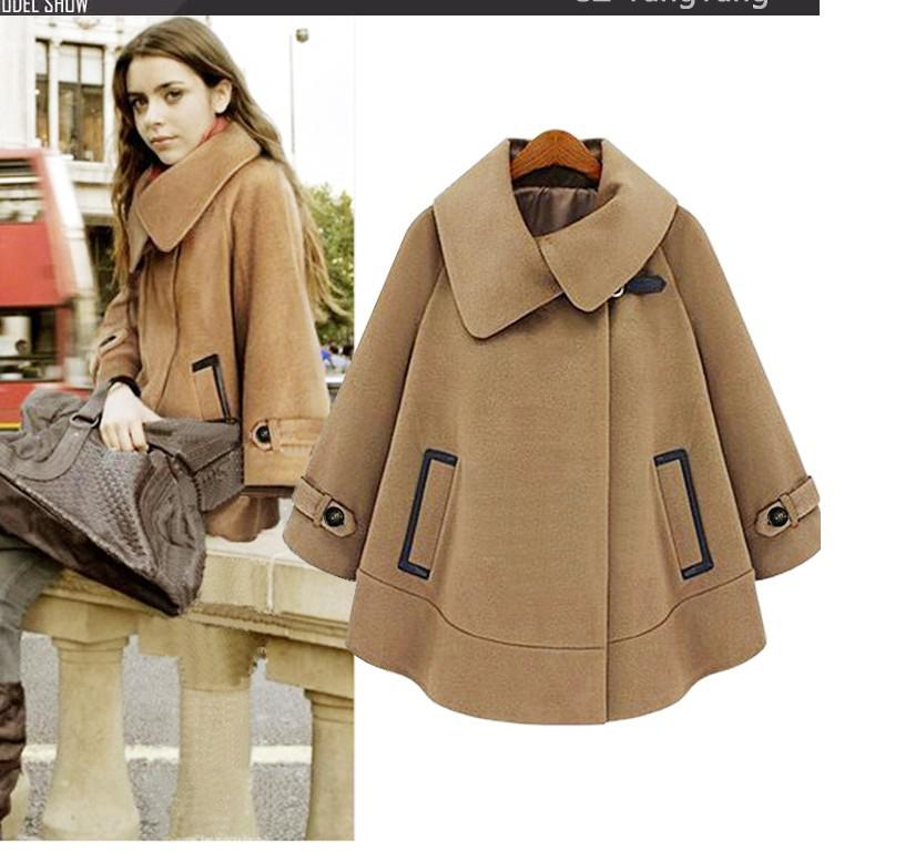 2017 2014 New Women New Woolen Cloak Overcoat Coat ,Winter Warm ...
