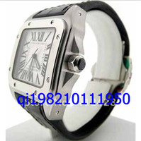Wholesale men's watches for sale - EMS free shippng luxury Men s STAINLESS STEEL black Leather Automatic wristwatches unique mens watches