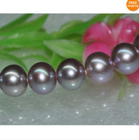 Wholesale rare gold chains resale online - Fine Pearl Jewelry Natural Rare purple mm South Sea pearl necklace k18inch