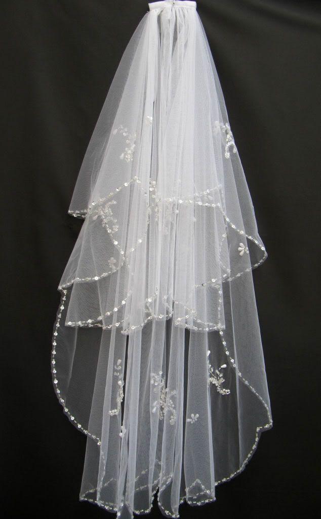 2T blanco o marfil abalorios accesorios de boda velos velo nupcial venta al por mayor cristal con cuentas velo nupcial con el peine
