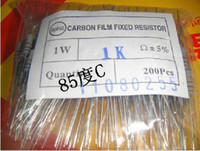 Wholesale 1w Resistors - Carbon Film Fixed Resistor 200pcs lot 1W Resistors Value:100 220 360 470 560 680 820 1000 1500 2200R