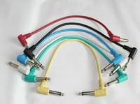 Wholesale Guitar Connect Cable - Free shipping electric guitar effector pedal effector connect cable line long 30cm 6 colors 6 pcs lot
