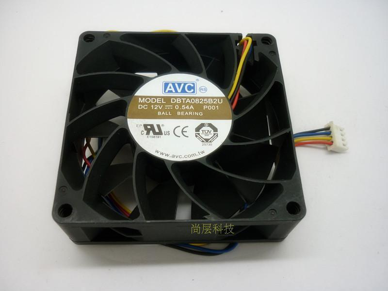Spedizione gratuita AVC DBTA0825B2U 8025 8cm 80mm DC12V 0.54A Ventola computer case
