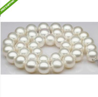 Wholesale 18 quot MM JAPANESE AKOYA PERFECT WHITE PEARL NECKLACE k
