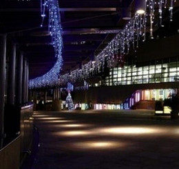 Wholesale Luzes Led - 2017 Luzes De Natal Add Male Female Plug Connector Wire Cable 400led 14m Curtain Lights Fairy Christmas Holiday Icicle Outdoor Light Lamps