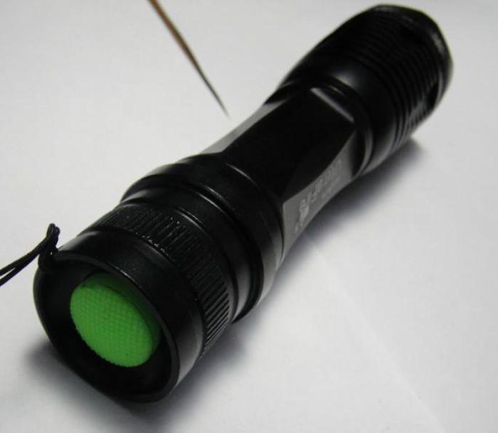 UltraFire Zoomable Flashlight CREE XML T6 LED Flashlight Torch Light 12W 1800lm E6 + Holster