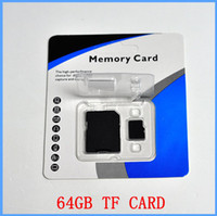 Wholesale Blister Package Galaxy - 64GB Class 10 SD Cards SDHC 64GB Class 10 TF Memory Cards with Free SD Adapter Free Blister Packaging free DHL shipping for galaxy note n700