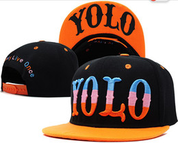 Wholesale Strap Snap Back - NEW Design Adjustable YOLO Snapbacks Many Styles Snapbacks Strap Back Hats Caps Snap back Baseball Hat Caps High Quality Free Shipping