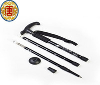 "Wholesale Wholesale Telescopic Walking Poles - Wholesale - fashion high quanlity black Adjustable Telescopic AntiShock Trekking Hiking Walking Stick 21.6"" to 43.3"""